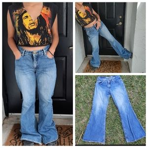 Vintage 90s Y2K Mudd Jean's Wide Leg Flare Skater